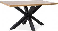 Jídelní stůl CROSS 150x90, dýha dub/černý kov
