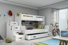 Patrová postel Maty NEW ÚP bílá/bílá