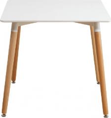 Jídelní stůl DIDIER 3 NEW, bílá/buk