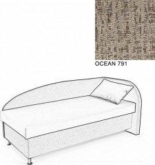 Čalouněná postel AVA NAVI, s úložným prostorem, 90x200, pravá, OCEAN 791