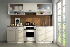 Kuchyňská linka Gloss 220 cm, vanilka lesk