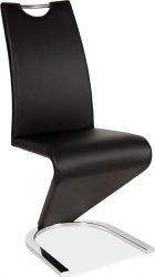 Jídelní čalouněná židle H-090 černá/chrom