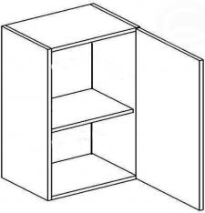 W60P horní skříňka jednodvéřová MERLIN