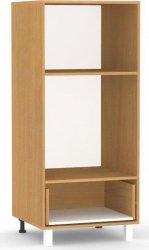 Vysoká skříň REA ALFA KSZ-60-130 pro vestavnou pečící a mikrovlnnou troubu, BUK