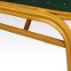 Konferenční židle ZINA 2 NEW stohovatelná, zelená/zlatý rám