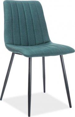 Jídelní židle ALAN zelená/černá