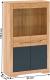 Vitrína FIDEL C, dub craft zlatý/grafit šedá