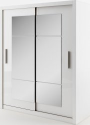 Šatní skříň IDEA 02 bílá zrcadlo 180 cm