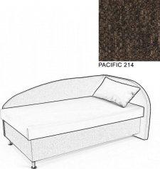 Čalouněná postel AVA NAVI, s úložným prostorem, 120x200, pravá, PACIFIC 214