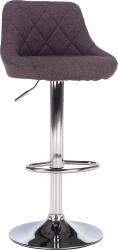 Barová židle MARID, látka šedohnědá TAUPE/chrom