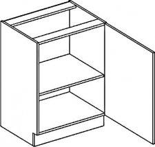 D60P dolní skříňka jednodvéřová PREMIUM hruška