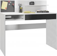 Psací PC stůl IMAN, bílá/černá