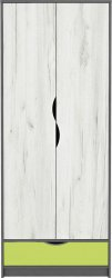 Šatní skříň DISNEY 2D dub kraft bílý/šedý grafit/limeta