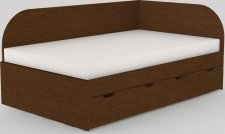 Dětská postel REA GARY 120x200 s úložným prostorem, pravá, WENGE