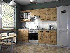 Kuchyňská linka Pamis 240 cm, dub artisan
