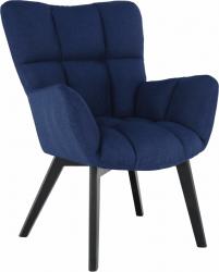 Designové křeslo FONDAR, modrá/černá