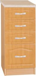 Spodní kuchyňská skříňka LORA MDF NEW KLASIK S40SZ4 se šuplíky, olše