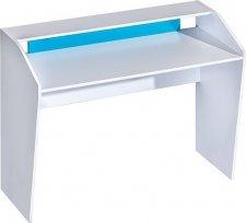 Pracovní stůl TRAFICO 9 bílá/tyrkys