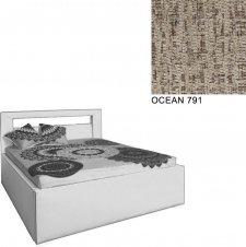 Čalouněná postel AVA LERYN 160x200, s úložným prostorem, OCEAN 791