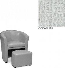 Klubové křeslo AVA HOLGER I, s taburetkou, OCEAN 181