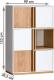 Skříňka KNOX E5, ořech select/bílá