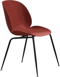 Plastová jídelní židle SONAIA, bordó/černý kov
