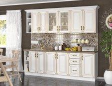 Kuchyňská linka IMPERIA 240 cm,  s D80, bílá/zlatá