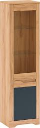 Vitrína FIDEL A1, levá, dub craft zlatý/grafit šedá