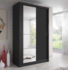 Šatní skříň 06 ARTI 120 černá zrcadlo