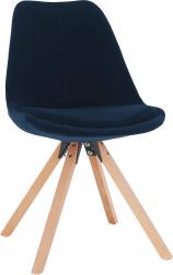 Jídelní židle SABRA, modrá Velvet látka/buk