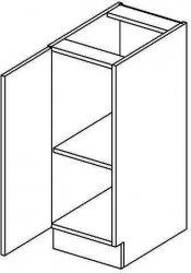 Spodní kuchyňská skříňka MERLIN D30L  1-dveřová černá lesk