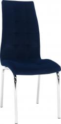 Jídelní židle GERDA NEW, modrá/chrom