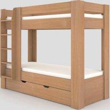 Patrová postel REA PIKACHU 80x200 levá, BUK