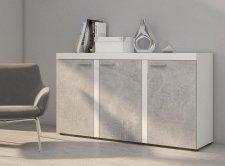 Skříňka RIZO 3D bílá/beton