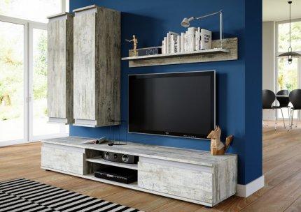 **Obývací stěna OHIO bílá borovice