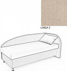 Čalouněná postel AVA NAVI, s úložným prostorem, 90x200, pravá, LINEA 3