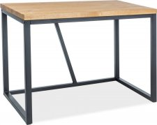 Pracovní stůl SILVIO dýha dub/černá