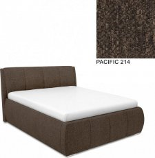 Čalouněná postel AVA EAMON UP 180x200, s úložným prostorem, PACIFIC 214