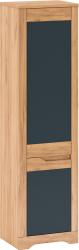 Skříň FIDEL V1, levá, dub craft zlatý/grafit šedá