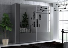 Šatní skříň SANTIAGO 250 grafit/grafit