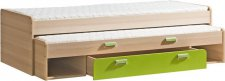 LIMO L16 výsuvná postel s úl. prostorem zelená