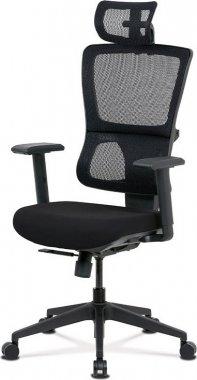 Kancelářská židle KA-M04 BK, černá látka/síťovina