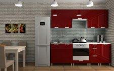 Kuchyňská linka Dalliance RLG 220 cm, bordo lesk