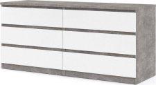 Komoda Simplicity 232 beton/bílý lesk