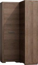 Rohová šatní skříň VEGAS V-39 pravá, výběr barev