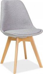 Jídelní židle DIOR, buk/světle šedá