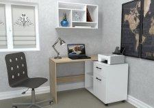Pracovní stůl STAN dub sonoma/bílá