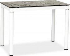 Jídelní stůl DAMAR černo-bílý