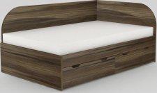 Dětská postel REA GARY 120x200 s úložným prostorem, pravá, OŘECH ROCKPILE