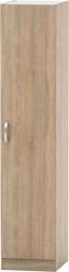 Šatní skříň BETTY 2, 1-dveřová, dub sonoma, BE02-006-00